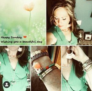 Kelly green wrap dress
